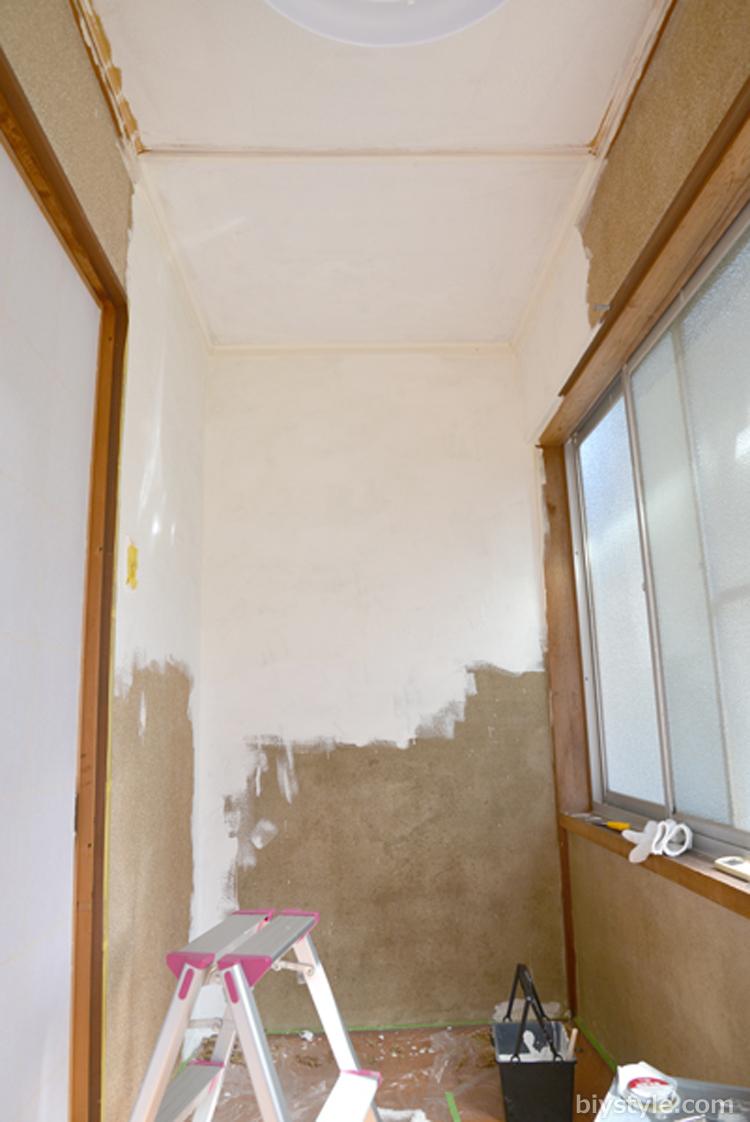 綿壁にペンキ塗り Biy Style